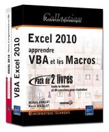 Excel 2010 : apprendre VBA et les Macros (Coffret de 2 livres)